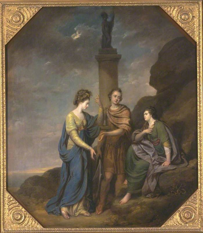 Portrait of a Gentleman, his Wife and Sister, in the Character of Fortitude introducing Hope as the Companion to Distress ('The Witts Family Group')