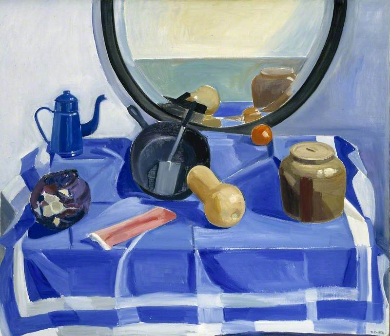 Still Life with Frying Pan and Red Cabbage