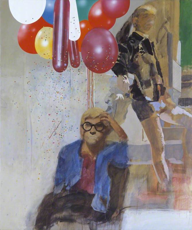 Portrait of David Hockney in a Hollywood Spanish Interior