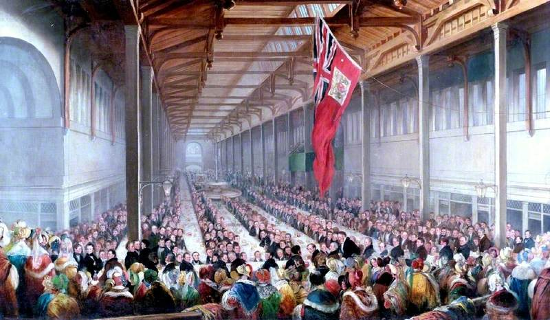 The Banquet Given on the Occasion of the Opening of the Grainger Market, Newcastle upon Tyne, 1835