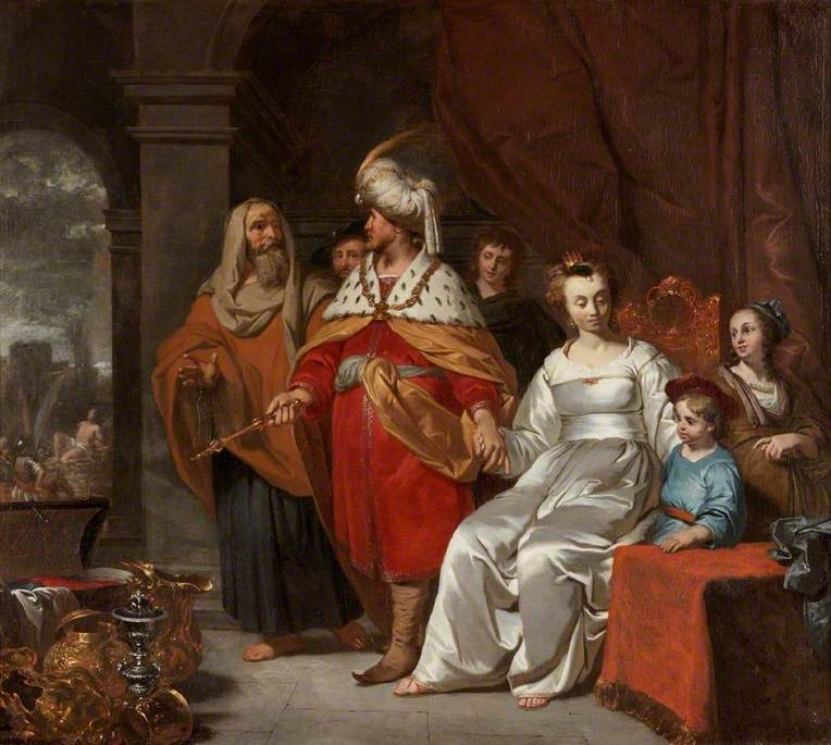 Croesus Showing Solon His Riches