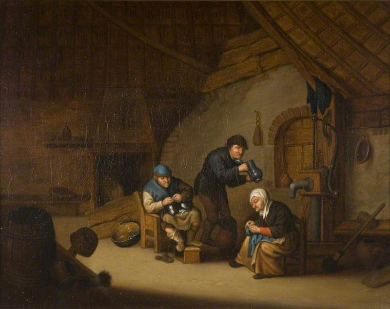 Dutch Interior with Figures