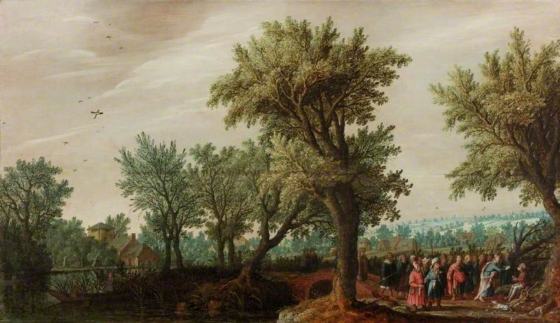 Landscape with Christ Healing a Blind Man