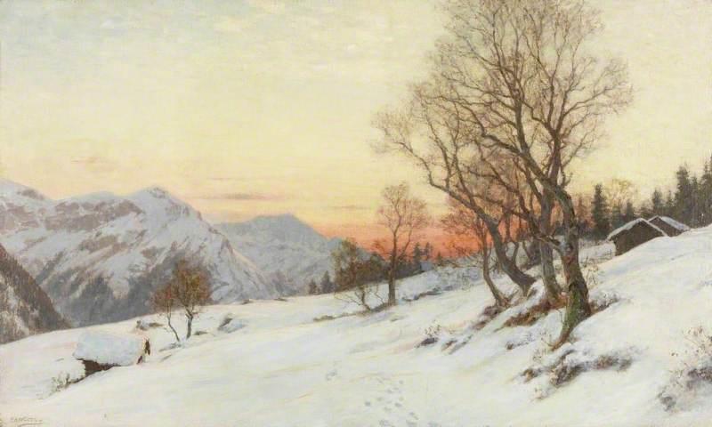Sunset in the Wengen Alps, Switzerland