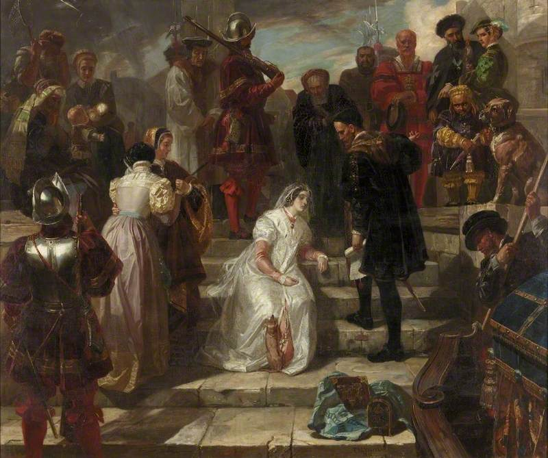 Anne Boleyn at the Queen's Stairs