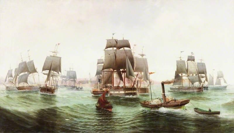 The Baltic Fleet Leaving Sunderland