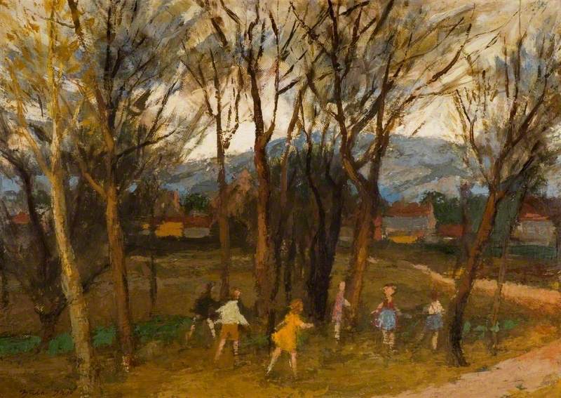 Landscape with Playing Children