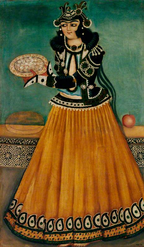 Woman Carrying a Plate of Sweets