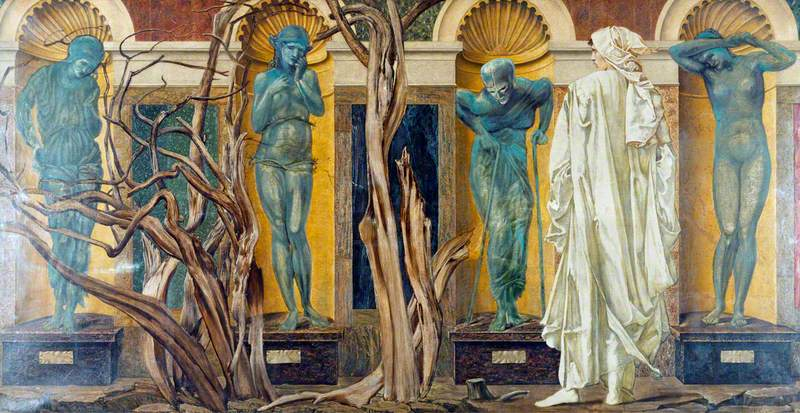 The Pilgrim outside the Garden of Idleness