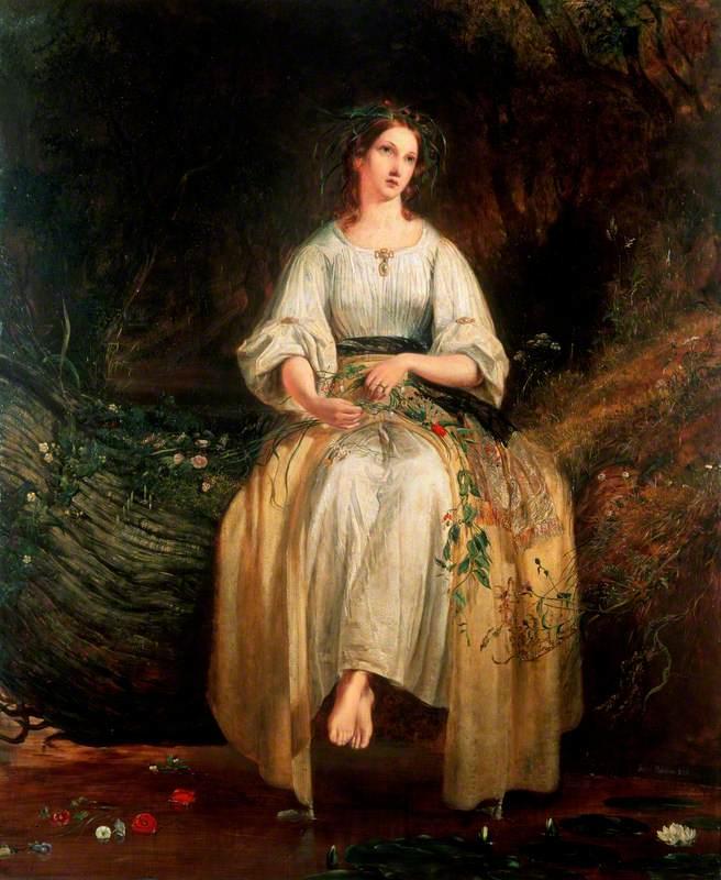 Ophelia Weaving Her Garlands