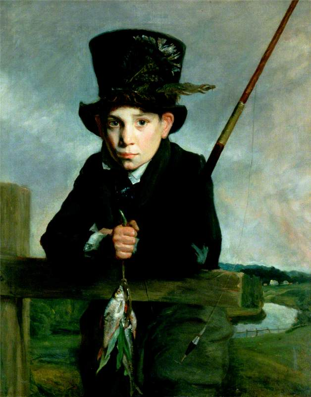Portrait of a Boy in a Top Hat with Flies