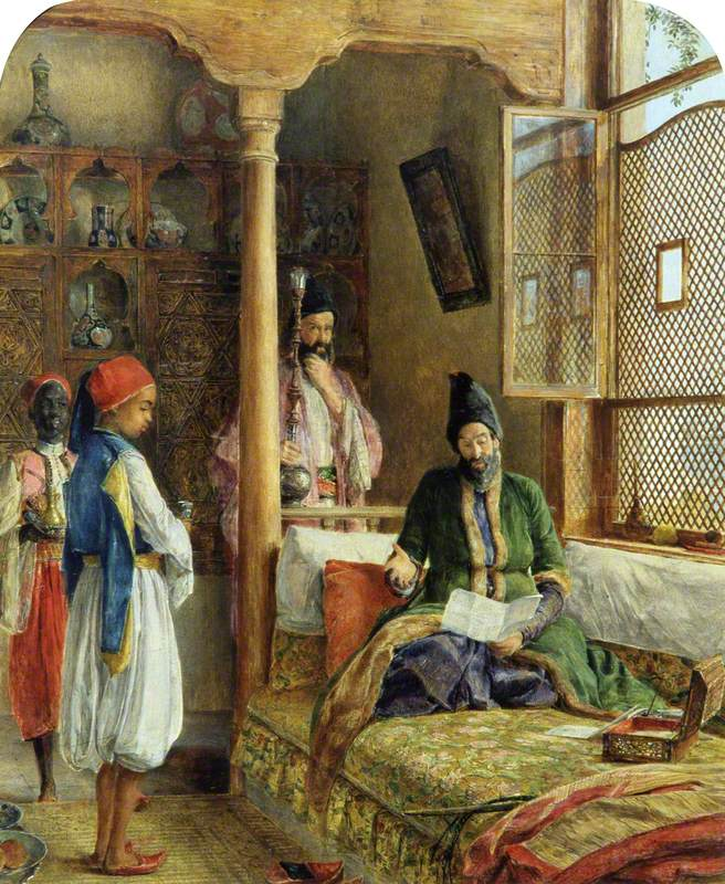 An Oriental Interior (A Startling Account, Constantinople)