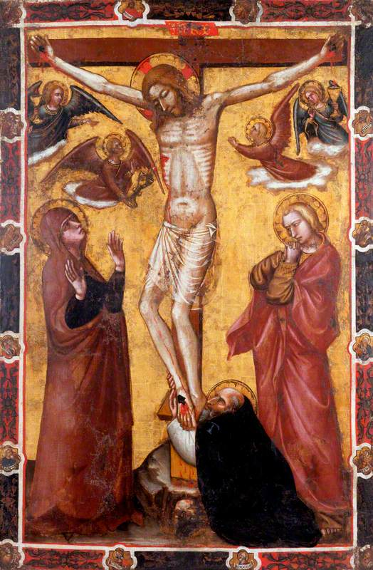 The Crucifixion with the Virgin and Saint John; Saint Anthony Abbot at the Foot of the Cross