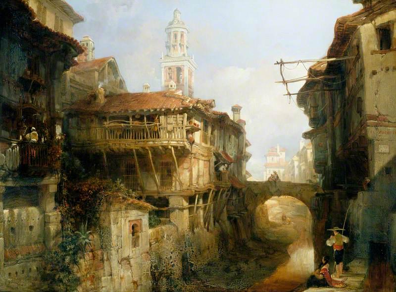 Old Buildings on the Darro, Granada
