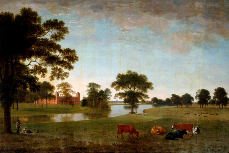 View in Osterley Park with Two Children