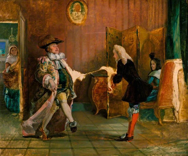 Monsieur Jourdain's Dancing Lesson