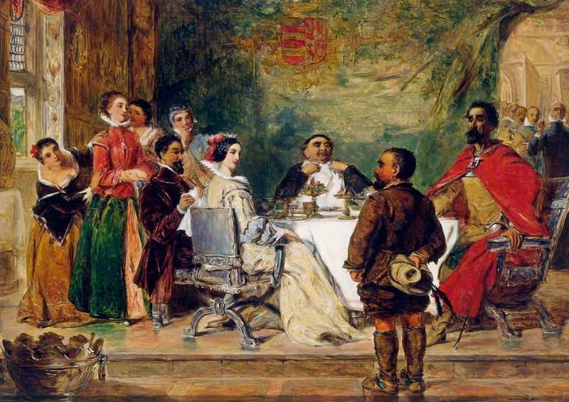 Sancho Panza Tells a Tale to the Duke and Duchess