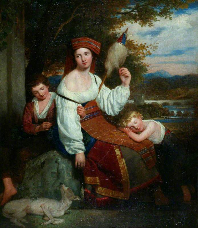 An Italian Contadina and Her Children