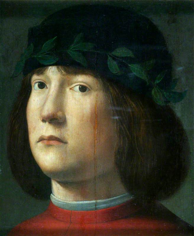 Head of a Laurel-Crowned Poet (?)