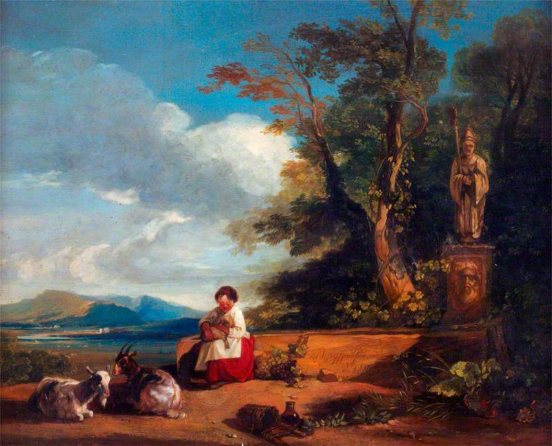 Girl with a Lamb, near Schaffhausen