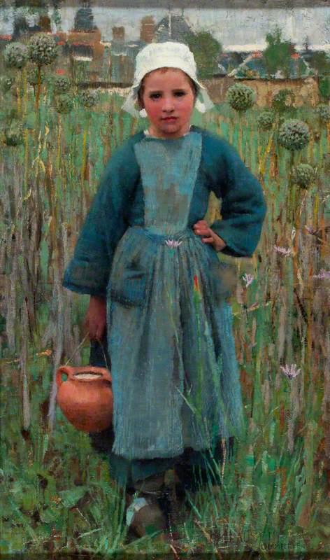 Peasant Girl Carrying a Jar, Quimperlé