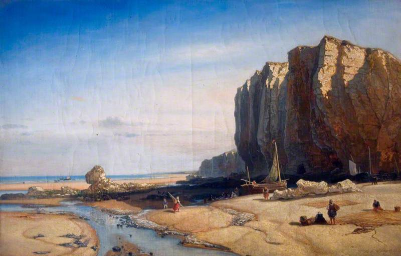 Rocky Coast with Figures and Boats