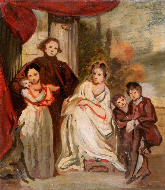 Portrait of a Gentleman, His Wife and Children