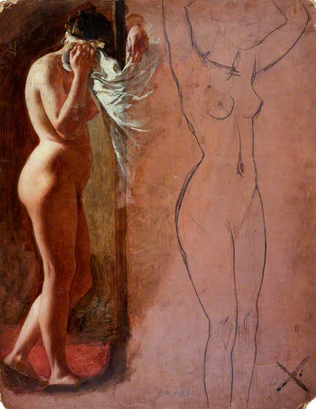 Study of a Nude Female Figure
