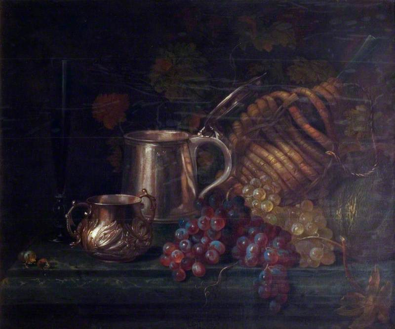 Still Life with Fruit and Silver