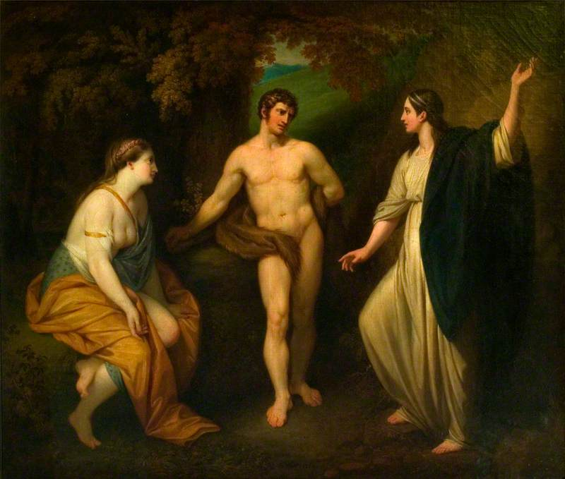 The Choice of Hercules between Virtue and Pleasure