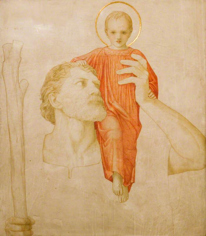 Saint Christopher and the Christ Child
