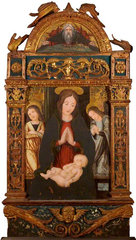 The Virgin and Child (main panel); God the Father (lunette)