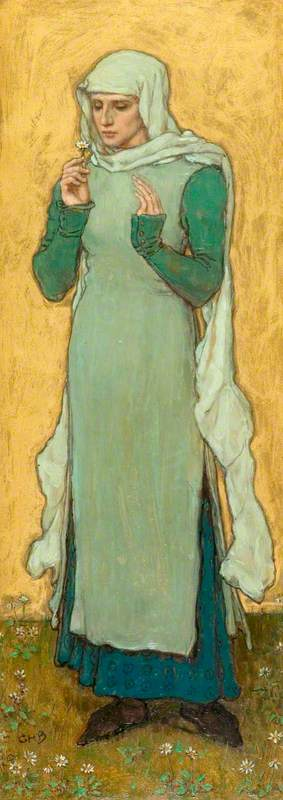 A Woman Holding a Marguerite