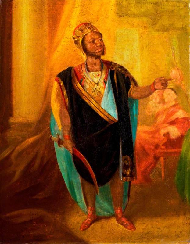 Ira Aldridge (1807–1867), as Othello in 'Othello' by William Shakespeare