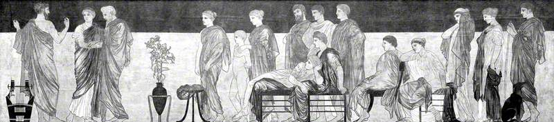 An Ancient Greek Audience Watching a Performance of 'Antigone' by Sophocles