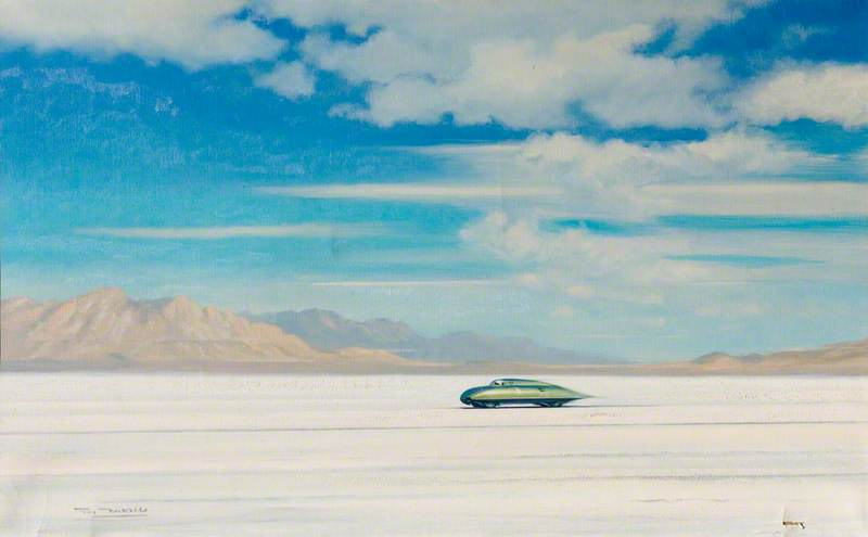 Stirling Moss Drives MG EX181 at Bonneville, USA