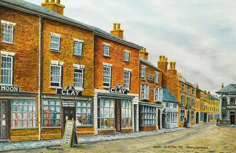 Nuneaton Market Place, Warwickshire, c.1900