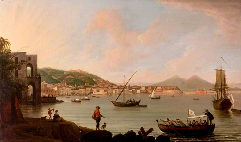 The Bay of Naples from Posillipo, Italy