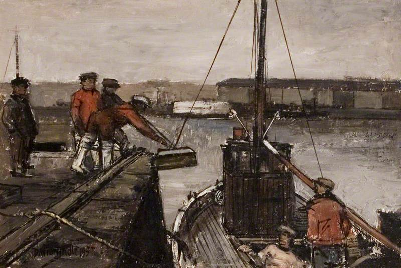 Fishermen and Boat, Arbroath