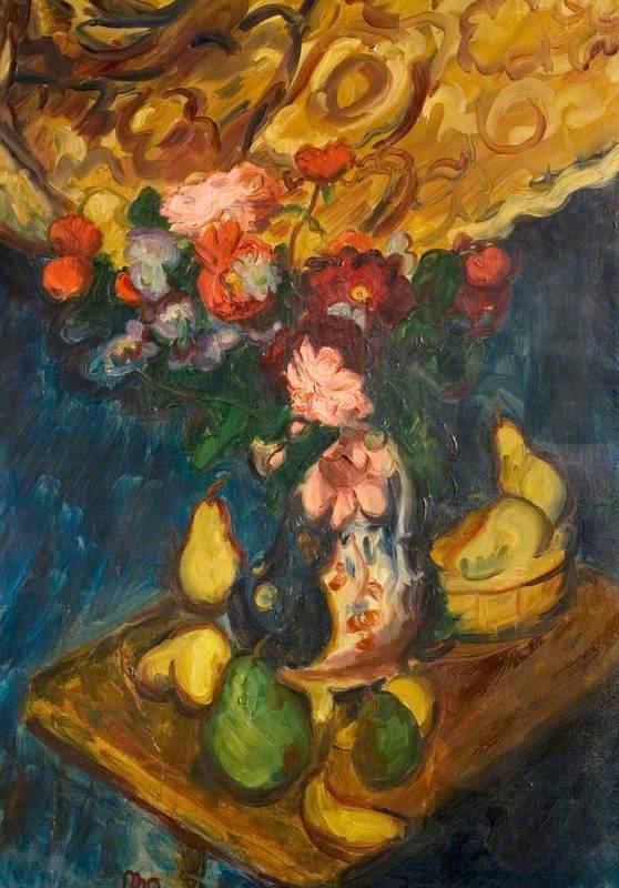 Dahlias and Pears