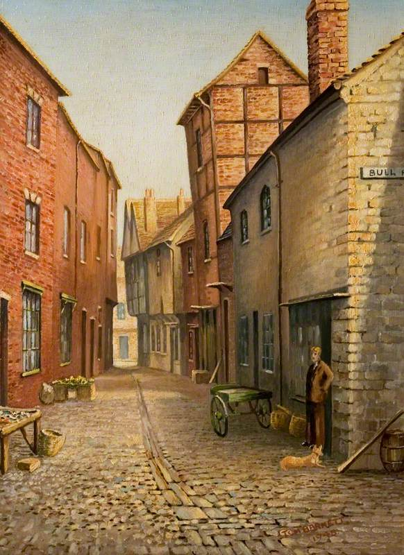 Little Butcher Row, Coventry, as It Was in 1860
