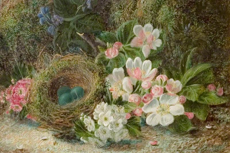 Bird's Nest with Apple and Hawthorn Blossom