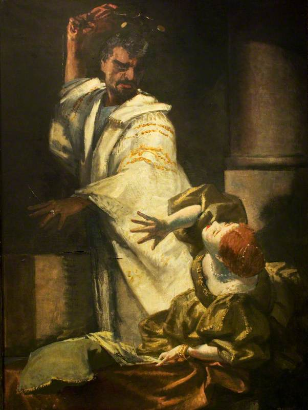 The Flowered Dress, Anthony Quayle (1913–1989), as Othello and Barbara Jefford (b.1930), as Desdemona