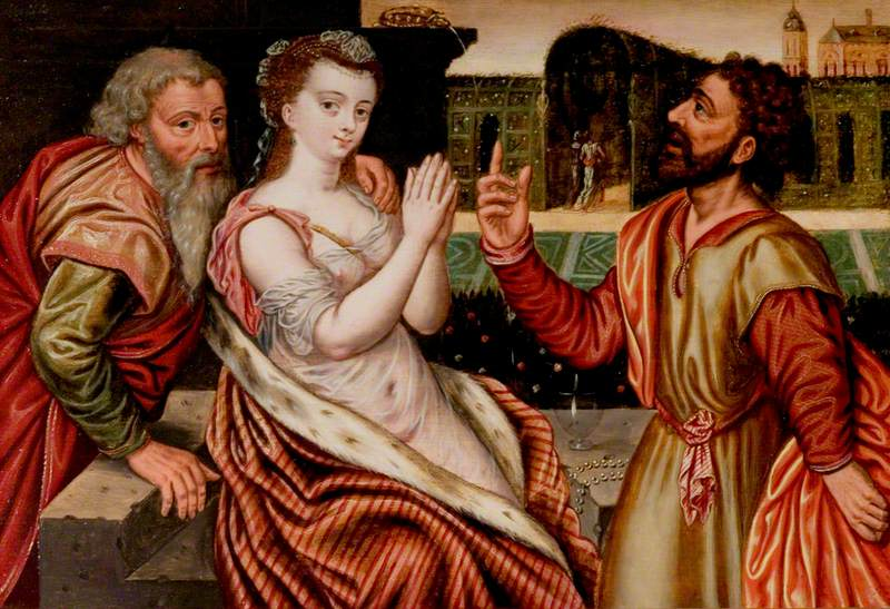 Susannah and the Elders (An Allegory of the Transience of Life)