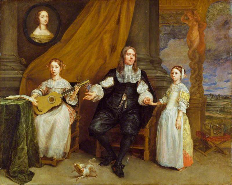 A Gentleman with His Two Daughters