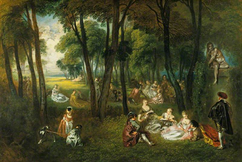 Fête galante in a Wooded Landscape