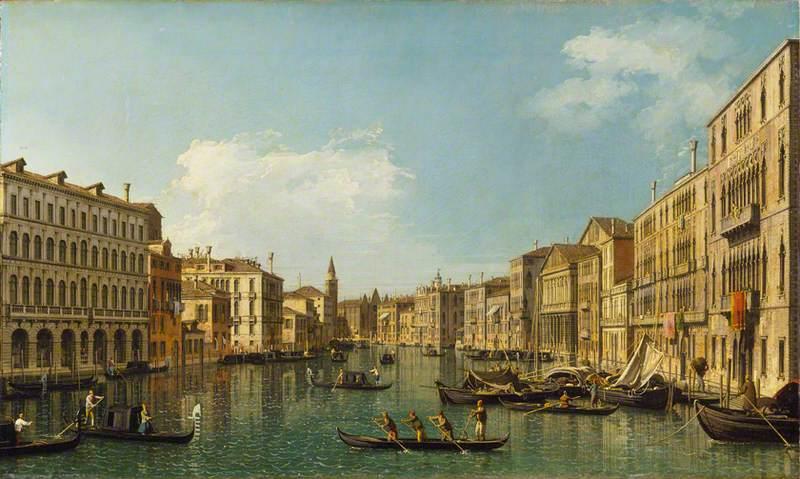 Venice: the Grand Canal from the Palazzo Foscari to the Carità
