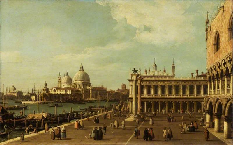 Venice: the Molo with Santa Maria della Salute