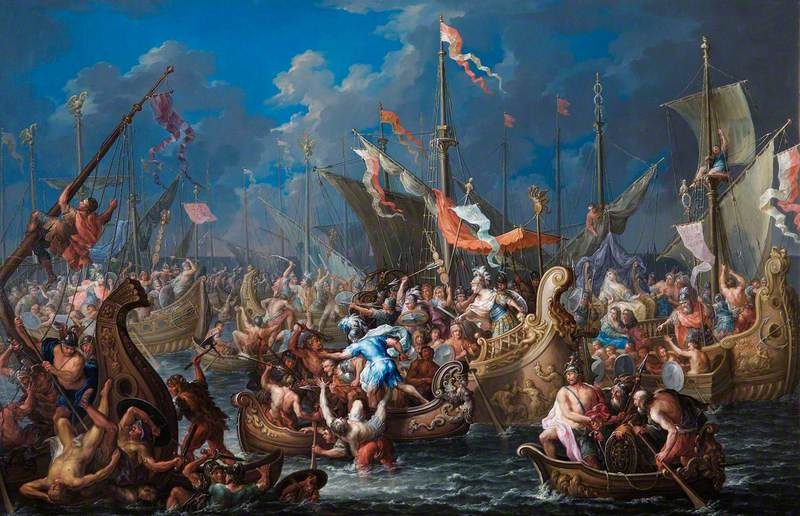 Antony and Cleopatra at the Battle of Actium