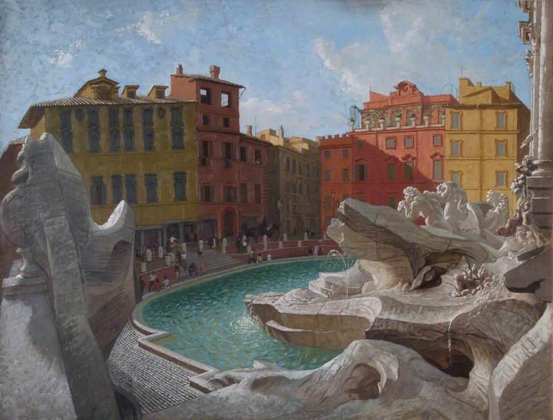 Piazza Trevi, Rome, 1957